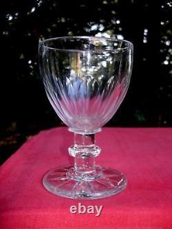 Baccarat Saint Louis Verre A Vin Eau Cristal Taillé Cotes Plates 19ème Xixème Ee