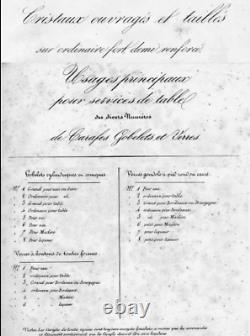 Baccarat St Louis Médicis 6 Verre A Vin Eau Cristal Taille Cotes Plates 19ème Bh