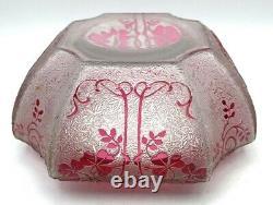 Baccarat vers 1900 bonbonniere cristal dégagé à l'acide saint-louis