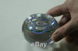 Beau presse papier cristal entrelacs Baccarat no Saint Louis Clichy vers 1850