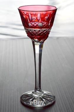 Belle Serie 6 Verres A Liqueur En Cristal Double Taille Genre Tommy St Louis