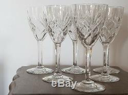 Belle Serie De 6 Grands Verres En Cristal De Saint Louis Modele Chantilly N°2