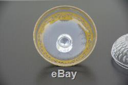 Boîte en cristal de Saint-Louis modèle Thistle St acide or