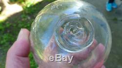 Boule d'escalier ancienne cristal blanc Baccarat, Saint-Louis sans socle