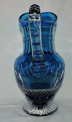 Broc A Eau En Cristal De St Louis Tommy Couleur Bleu