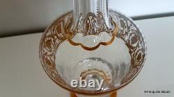 Broc Pichet eau en Saint St Louis Cristal modèle Thistle Or signé parfait état