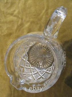 Broc à eau cristal Saint Louis mod Gavarni crystal water pitcher