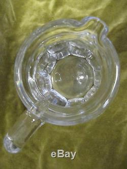 Broc à eau cristal de saint louis cotes plates mod poincare (crystal pitcher)