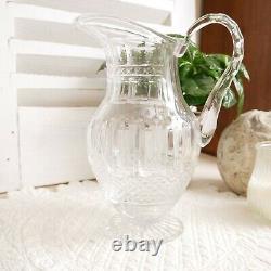 Broc ou pichet à eau en cristal Saint Louis modèle Tommy