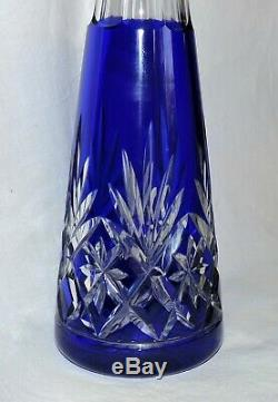 Carafe A Liqueur En Cristal De St Louis Modele Massenet Double Bleu