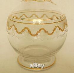 Carafe à liqueur modèle Beethoven en CRISTAL DE ST LOUIS réhaussé à l'or fin