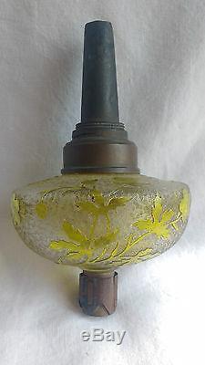 Corps de lampes à pétrole cristal de Saint Louis Baccarat