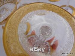 Coupe à Champagne en Saint St Louis Cristal Thistle Or signé parfait état