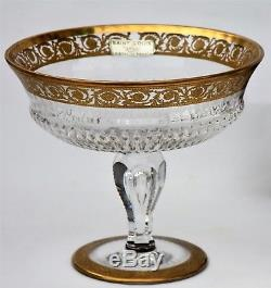 Coupe à fruits à piédouche en cristal de Saint Louis modèle Thistle Or