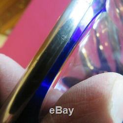 Coupe en cristal bleu baccarat ou saint louis ou autres a définir monture argent