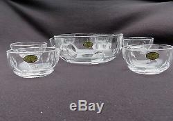 Coupe saladier et 6 coupelles à fruits en cristal de saint louis bristol