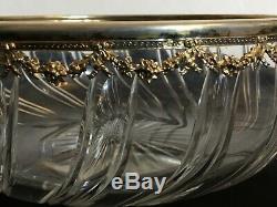 # Coupe saladière en cristal taillé argent massif, saint Louis, baccarat