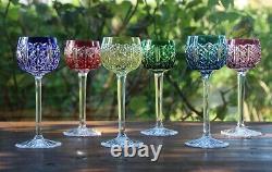 Cristal Saint Louis Riesling 6 Verres à vin du Rhin Roemer 6 Rhine wine glass