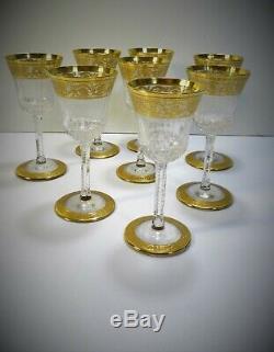 Cristal Saint Louis Thistle 8 Verres à liqueur