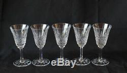Cristal Saint Louis modèle TARN 5 verres à vin H14 (neuf)