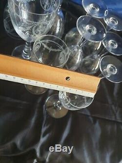 Cristal Saint-Louis modèle sapho lot de 10 verres Poids 1 kg 300