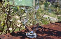 Cristal de Saint louis modèle Massenet Uni Pichet Broc à eau signé