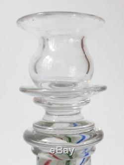Cristal de St Louis Bougeoir en verre soufflé époque XIXe