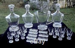 Ensemble Service Cristal De Saint Louis Diamant 93 Pièces Crystal Glasses