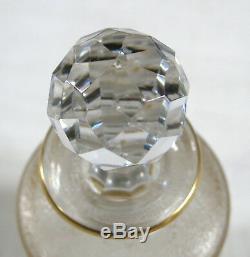 FLACON BACCARAT SAINT LOUIS, 2 très beaux flacons anciens, cristal, ART DÉCO