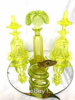 Flacon Parfum Cristal Saint Louis Tete De Serpent En Ouraline Mme De Pompadour