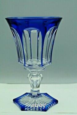 GRAND VERRE à vin en cristal BLEU doublé ST-LOUIS BACCARAT