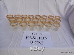 Gobelet OLD fASHION verre à Whisky Saint St Louis Cristal Thistle Or signé