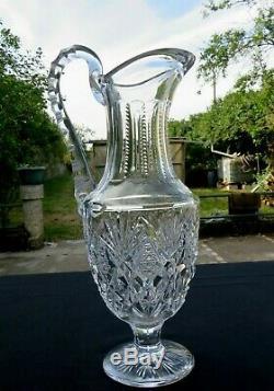 Grand broc a eau en cristal de saint louis modèle FLORENCE signé