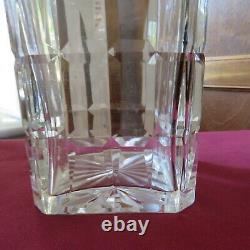 Grande carafe a whisky en cristal de saint louis modèle Manhattan signée