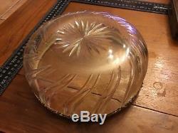 Grande coupe en cristal et argent massif vermeil (baccarat, saint Louis)