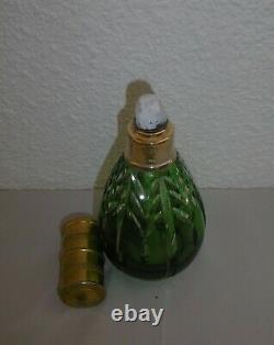 Lampe Berger modèle Cristal doublé couleur verte Saint Louis