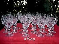 Lorraine Set Service Wine Glasses Verre A Vin Eau Cristal Taillé Saint Louis Ab