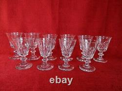 Lot de 10 verres Baccarat Saint Louis cristal taillés modèle Caton XIXème