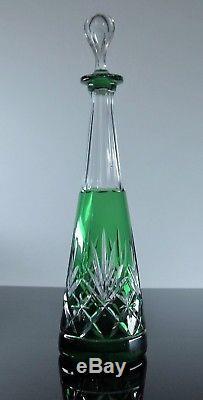 Magnifique Carafe En Cristal Couleur Taille St Louis Modele Massenet