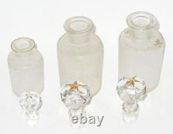 Nécessaire De Toilette En Cristal De Saint Louis Flacons De Parfum