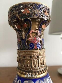 Old Lampe Berger Cristal Crystal Saint Louis Avec Rare Bouchon Emaille 1910/30