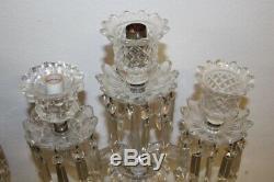 Paire de candelabres en cristal de baccarat saint louis