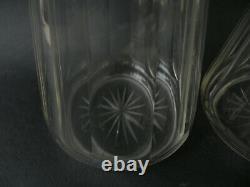 Paire de carafes liqueur cristal et argent massif minerve Baccarat Saint Louis