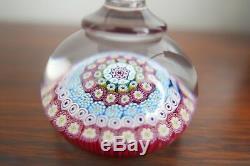 Penholder Millefiori Filigrané Signé En Cristal De Saint-louis French Glass