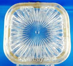 Pot A Biscuit 1900 Cristal Presse Moule Baccarat Ou Saint Louis