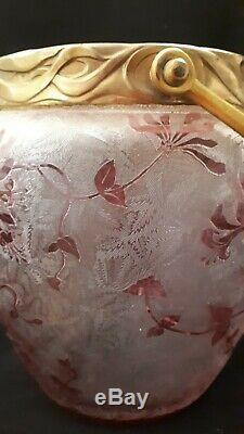 Pot à biscuits cristal givré Saint Louis, Baccarat