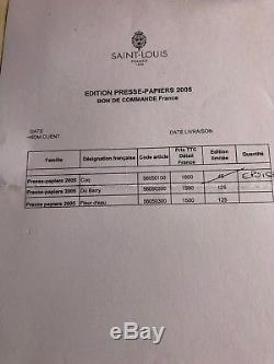 Presse papiers sulfure en cristal signé Saint Louis