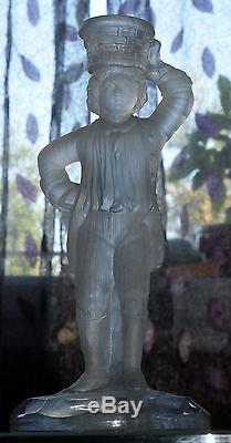 RARE BOUGEOIR EN CRISTAL DE ST. LOUIS catalogue 1872,1 Partie statuette jardiniér