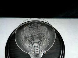 RARE SAINT LOUIS 6 FLUTES A CHAMPAGNE CRISTAL GRAVE 19 cm