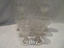 Rare 11 verres 4cl cristal Saint Louis Le Creusot crystal cherry glasses
